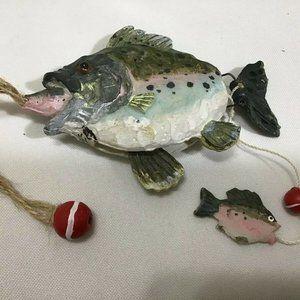 "Bass 4"" Articulating Hanging Christmas Ornament Bi"